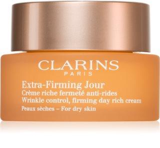 Clarins Extra-Firming Day crème lifting de jour anti-rides pour peaux sèches