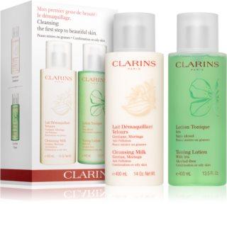 Clarins Cleansing Milk & Toning Lotion coffret II. para mulheres