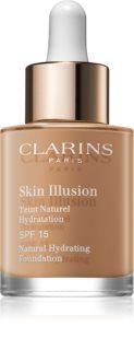 Clarins Skin Illusion Natural Hydrating Foundation Lystergivande fuktgivande smink SPF 15