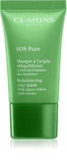 Clarins SOS Pure збалансовувальна глиняна маска для ідеальної шкіри