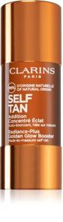 Clarins Self Tan Radiance-Plus Golden Glow Booster samoopaľovací prípravok na tvár