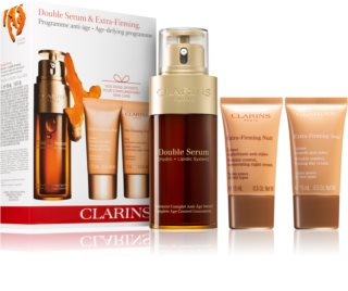 Clarins Double Serum & Extra Firming Age-defying Programme козметичен комплект (против стареене на кожата)