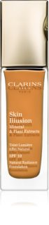 Clarins Face Make-Up Skin Illusion Brightening Foundation for Natural Look SPF 10