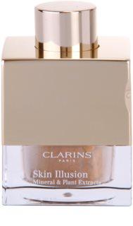 Clarins Face Make-Up Skin Illusion loses Puder-Make up für einen natürlichen Look mit Pinselchen
