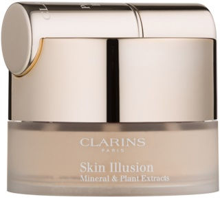 Clarins Face Make-Up Skin Illusion fond de teint poudre avec pinceau