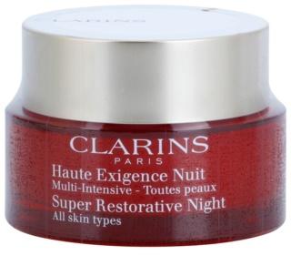 Clarins Super Restorative нощен крем против всички признаци на стареене за всички типове кожа на лицето