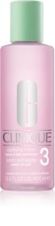 Clinique 3 Steps Clarifying Lotion 3 tonic pentru ten gras și mixt
