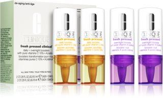 Clinique Fresh Pressed™ Clinical Daily + Overnight Boosters with Pure Vitamins C 10% + A denná a nočná starostlivosť