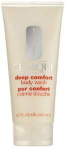 Clinique Deep Comfort легкий крем для душу для всіх типів шкіри