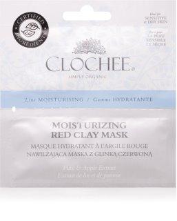 Clochee Moisturising Maske mit Tonmineralien mit feuchtigkeitsspendender Wirkung