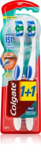 Colgate 360°  Whole Mouth Clean зубні щіточки soft 2 шт