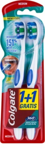 Colgate 360°  Whole Mouth Clean četkice za zube medium 2 kom