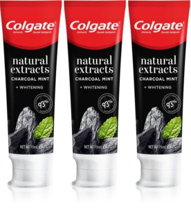 Colgate Natural Extracts Charcoal + White dentífrico branqueador com carvão ativo