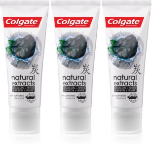 Colgate Natural Extracts Charcoal + White Whitening Toothpaste with Activated Charcoal