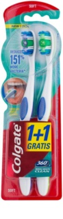 Colgate 360°  Whole Mouth Clean cepillos de dientes suaves 2 uds
