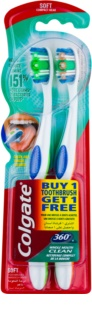 Colgate 360°  Whole Mouth Clean zobne ščetke soft 2 ks