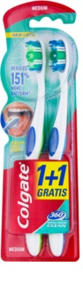 Colgate 360°  Whole Mouth Clean medium fogkefék 2 db