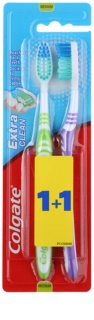 Colgate Extra Clean brosses à dents medium 2 pcs