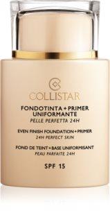 Collistar Even Finish Foundation+Primer 24h Perfect Skin tekoči puder in podlaga  SPF 15