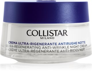 Collistar Special Anti-Age Ultra-Regenerating Anti-Wrinkle Night Cream creme de noite antirrugas para pele madura