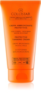 Collistar Sun Protection crema protettiva abbronzante SPF 15