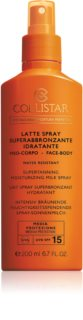 Collistar Special Perfect Tan Supertanning Moisturizing Milk Spray lait solaire en spray SPF 15