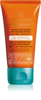 Collistar Special Perfect Tan Active Protection Sun Face Cream Anti-Rimpel Zonnebrandcrème SPF 50+