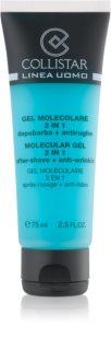 Collistar Molecular Gel 2 in 1 gel post-rasatura + crema idratante giorno effetto antirughe