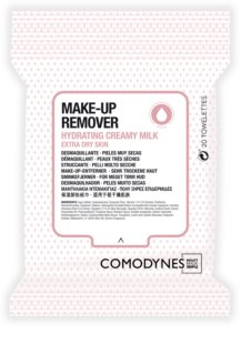 Comodynes Make-up Remover Creamy Milk Make-up Remover Doekjes  voor Zeer Droge Huid