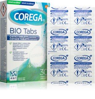 Corega Tabs Bio tisztító tabletta kivehető fogszabályozóra és protézisre