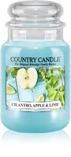 Country Candle Cilantro, Apple & Lime dišeča sveča