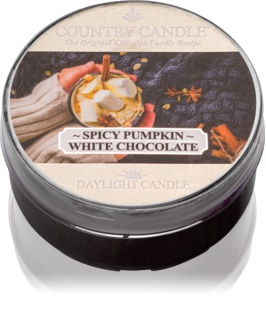 Country Candle Spicy Pumpkin White Chocolate vela de té