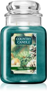 Country Candle Tinsel Thyme dišeča sveča