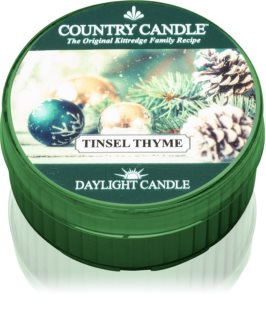 Country Candle Tinsel Thyme teamécses