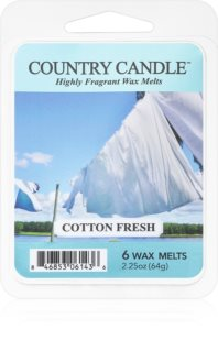 Country Candle Cotton Fresh vosek za aroma lučko
