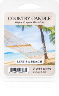 Country Candle Life's a Beach duftwachs für aromalampe