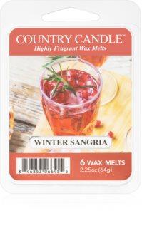 Country Candle Winter Sangria vosek za aroma lučko