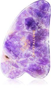 Crystallove Amethyst Gua Sha Plate accessoire de massage
