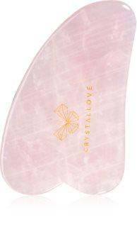 Crystallove Rose Quartz Gua Sha Plate massage-instrument