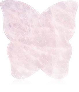 Crystallove Butterfly Rose Quartz Gua Sha Plate Massage Hilfsmittel