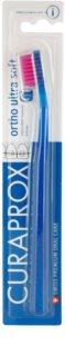 Curaprox Ortho Ultra Soft 5460 brosse à dents orthodontique pour les utilisateurs d'appareils dentaires fixes