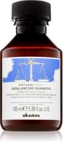 Davines Naturaltech Rebalancing champô de limpeza profunda para couro cabeludo oleoso