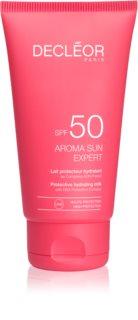 Decléor Aroma Sun Expert crema bronceadora antiarrugas para rostro SPF 50