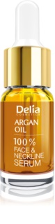 Delia Cosmetics Professional Face Care Argan Oil Intensiivinen Elvyttävä ja Virkistävä Seerumi Argan-Öljyllä Kasvoille, Kaulalle Ja Rinnalle