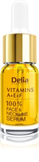 Delia Cosmetics Professional Face Care Vitamins A+E+F Anti-rynke serum Til hals og kavalergang