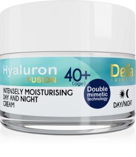 Delia Cosmetics Hyaluron Fusion 40+ интензивен хидратиращ крем против бръчки