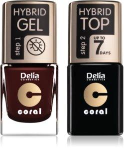 Delia Cosmetics Coral Nail Enamel Hybrid Gel ambalaj economic pentru unghii
