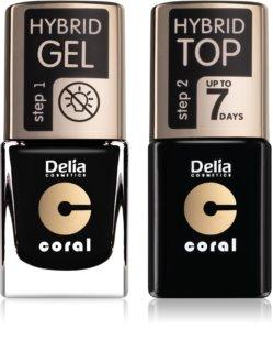 Delia Cosmetics Coral Nail Enamel Hybrid Gel kozmetika szett