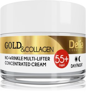 Delia Cosmetics Gold & Collagen 55+ krema proti gubam z učinkom liftinga