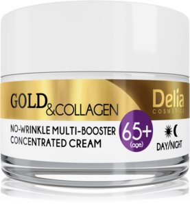 Delia Cosmetics Gold & Collagen 65+ Anti-Faltencreme mit regenerierender Wirkung